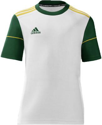 Adidas Youth mi Squadra 17 Short Sleeve Soccer Jersey White Green   eBay
