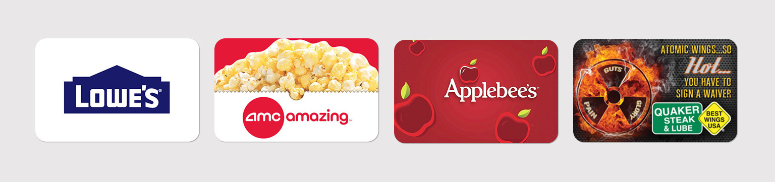 Save on discounted gift cards