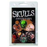 6 Pack Skulls Motion Alive Assorted .63 Gauge Guitar Picks Plectrum Set