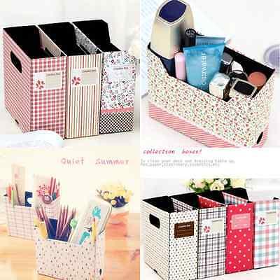 DIY Hot Makeup Cosmetic Stationery Paper Board Storage Box Desk Decor Organizer