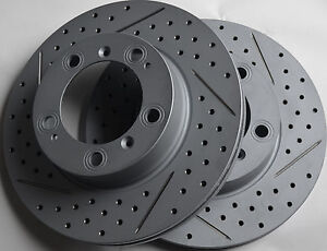 Fits-Porsche-Boxster-Drilled-or-Slotted-Brake-Rotors-Front-Made-In-Gemrany