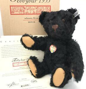 Steiff Teddy Bear 1953 Schwarz Replica Mohair Plush 35cm 14in LE3000 2004 ID Box