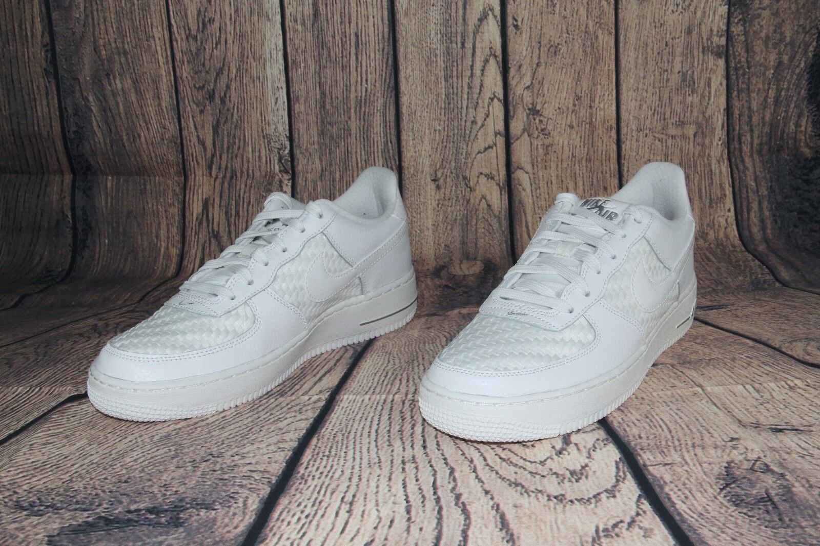 96069c10c Nike Air Force 1 Lv8 Big Kids 820438-105 Summit White Woven Shoes ...