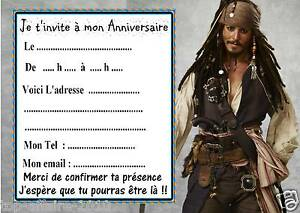 5 Cartes Invitation Anniversaire Pirates Des Caraibes 01 Film Ebay