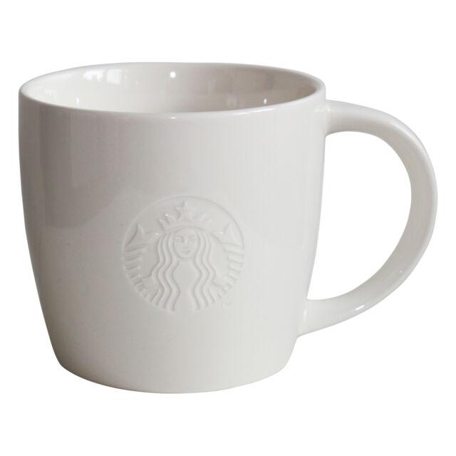 Starbucks Fore Here Siren 20oz Kaffee Tasse Coffee Cup Mug white Collectors
