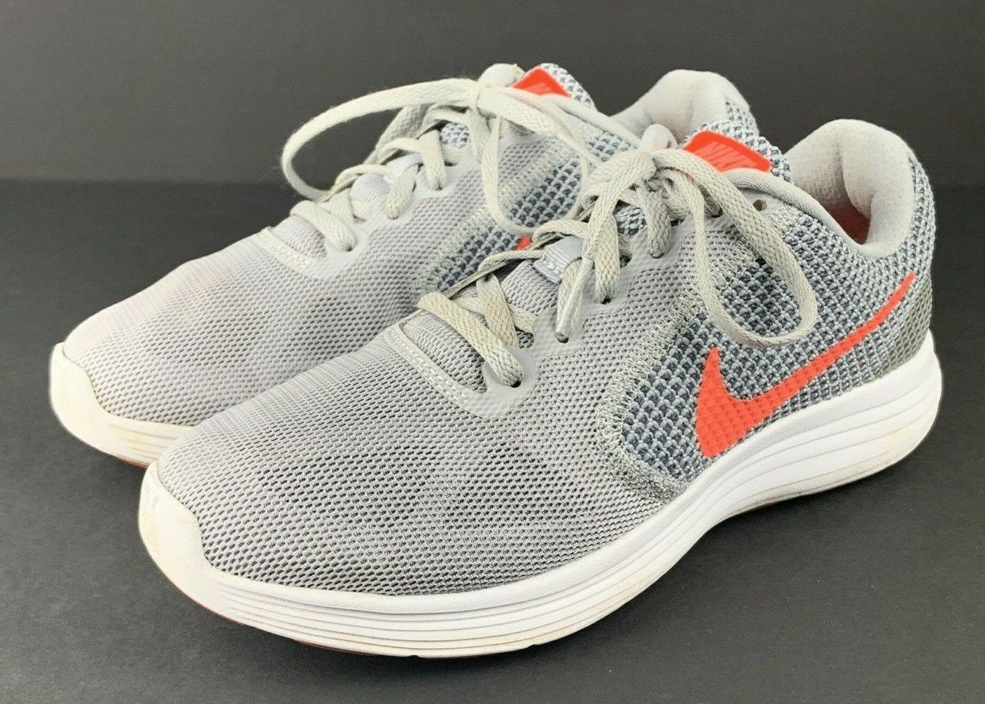 escaldadura Pólvora Higgins  Nike Revolution 3 Womens 819303-009 Grey Fire Pink Mesh Running Shoes Size  7.5 for sale online | eBay