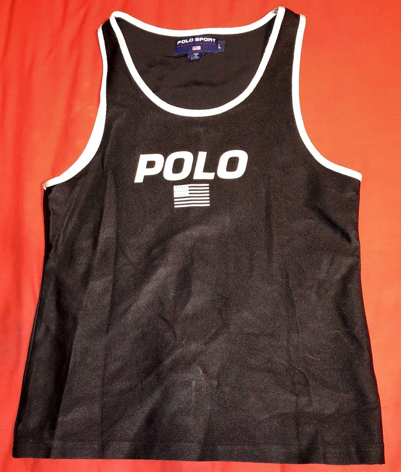 Vintage 90s Polo Sport Ralph Lauren Mens Sz L Jersey Shirt
