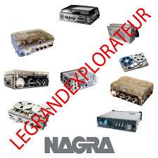 Ultimate Nagra Operation Repair Service Schematics Manuals  130 PDF manual s DVD