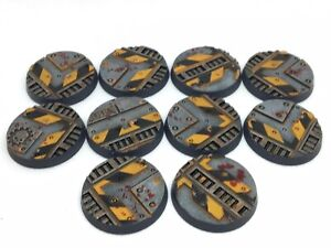 X10 Pre-painted 32 mm Sector imperialis bases-Games Workshop-Warhammer 40k –