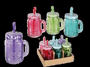 6er-Set-Trinkglas-Trinkhalm-Henkel-Halm-Trinkbecher-Glas-Becher-400ml-BUNT