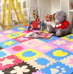 10Pcs Soft EVA Foam Puzzle Mat Pad Floor Baby Kids Toddler Play Crawling Rugs