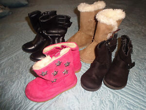 4 Pairs Baby girl shoes size 5, 5-1/2,6