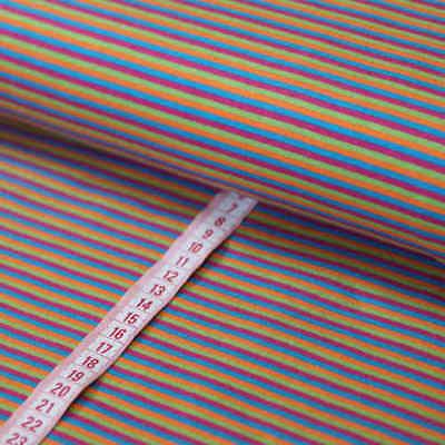 0,5 m Stoff Baumwolle ♥ Ökotex ♥  Streifen hellrot ♥ gestreift Fischgrät