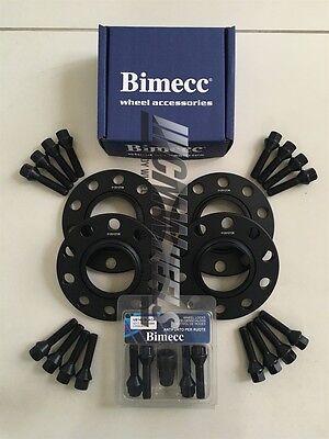2 x 15mm Black Alloy Wheel Spacers Black Bolts Locks BMW E90 M3 E93 M3 E92 M3