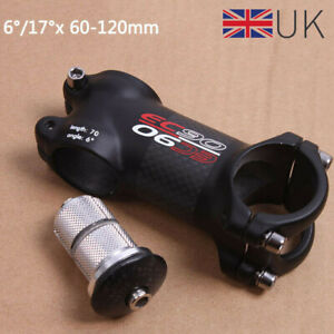 31-8-60-120mm-EC90-MTB-Road-Bike-Stem-Carbon-Fiber-3K-1-1-8-034-Threadless-Stems