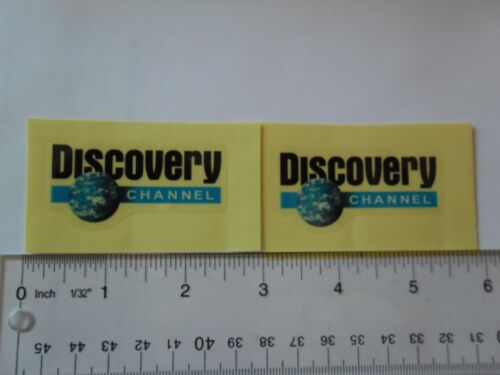 """2.5/"""" x 2/""""  DISCOVERY CHANNEL  Logo Vinyl  clear background 2 decal stickers"""