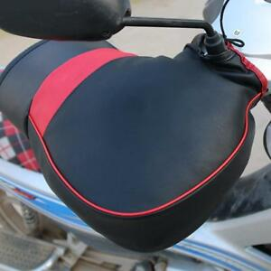 Hand-Leather-Gloves-Motorcycle-Scooter-Quad-Bike-Handlebar-Winter-Warmer-Mitts