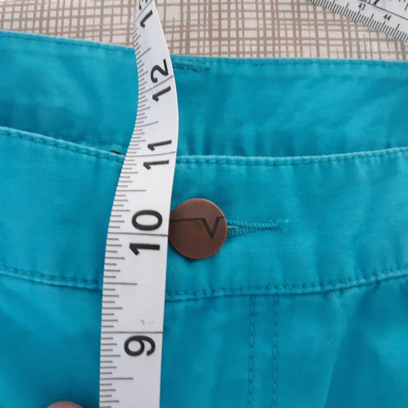 Venezia Turquoise Blue Cargo Capri Pants Women's … - image 10
