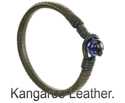 7AB-007 HandMade Kangaroo Leather Lapis Lazuli NEW Anklet Men Bracelet.