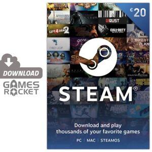 Steam Karte 20.Details Zu 20 Eur Steam Guthaben Code Game Card 20 Pc Mac Linux