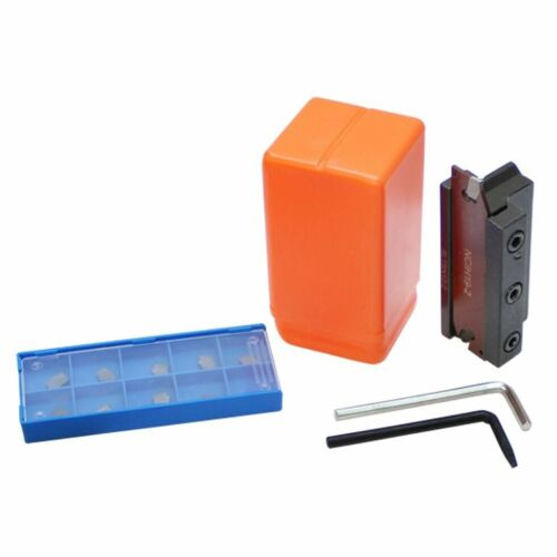 Set 1//2 inch Positive Stop Blade Cut-off 10 Inserts GTN-2 5C with Plastic Case