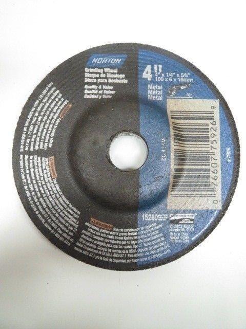 PK Norton Metal Grinding Wheel Type 27 4 in X 1//4 in X 5//8 in //// 66252842011 25