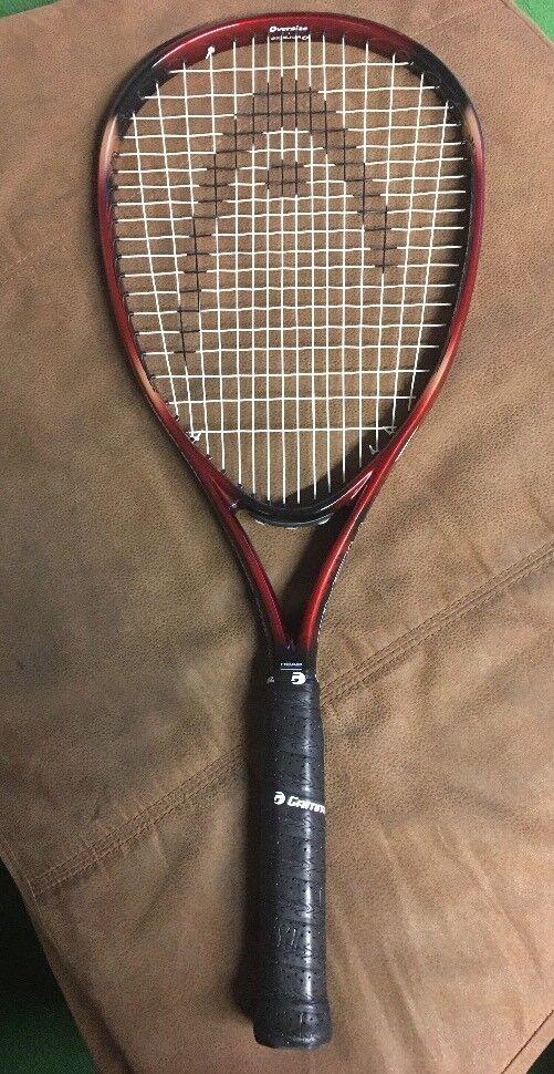 Cabeza LEYENDA Pro OverTalla Raqueta De Tenis  Nuevo Grip 4 5 8 Excelente-Parece Sin Uso  se descuenta