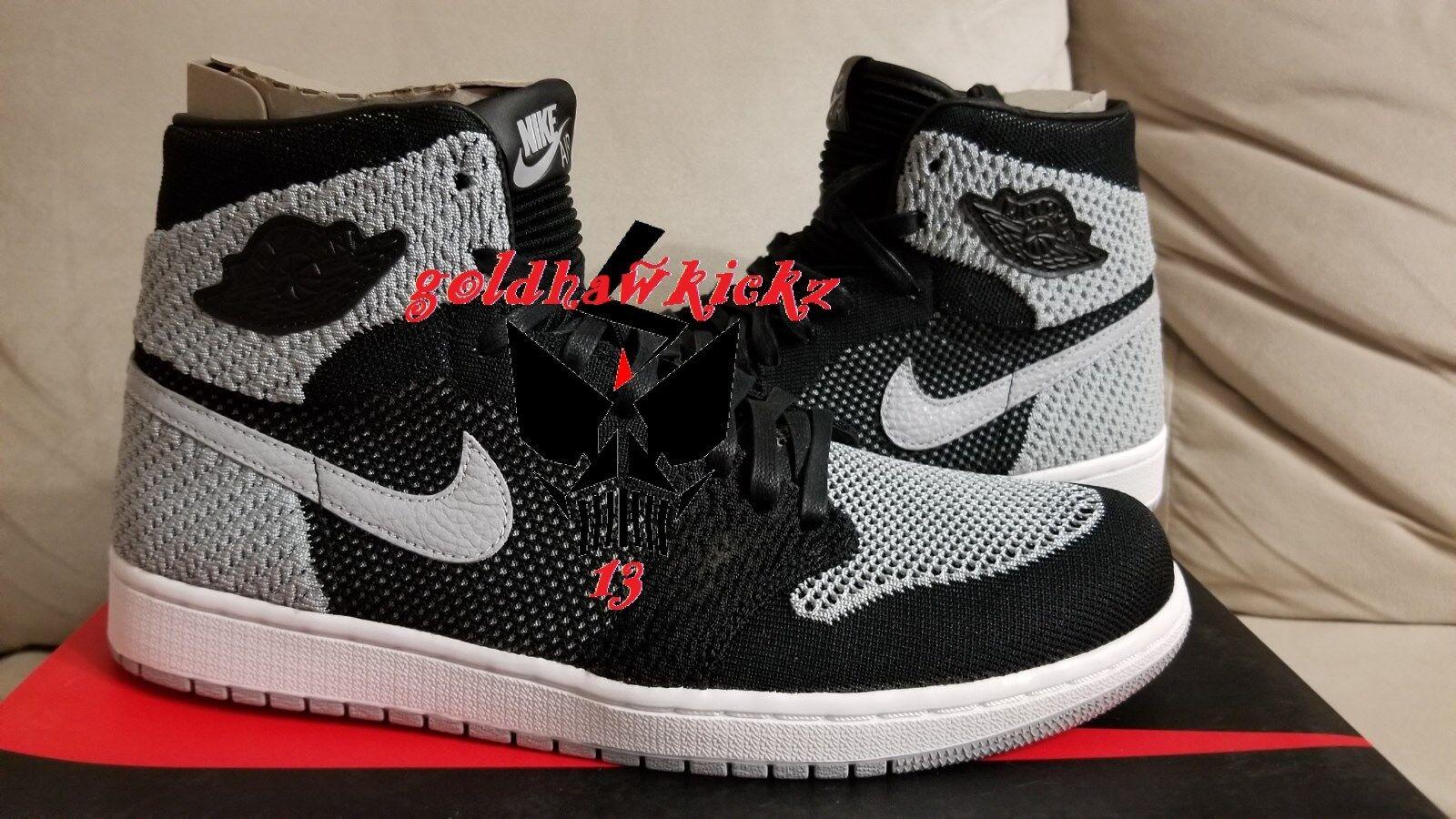 Nike Air Jordan 1 retro high Flyknit Shadow Black Grey 919704 003