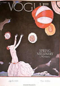 Vogue-Spring-Millinery-1980-039-s-Hats-Fashion-Costume-Retro-Art-Stunning