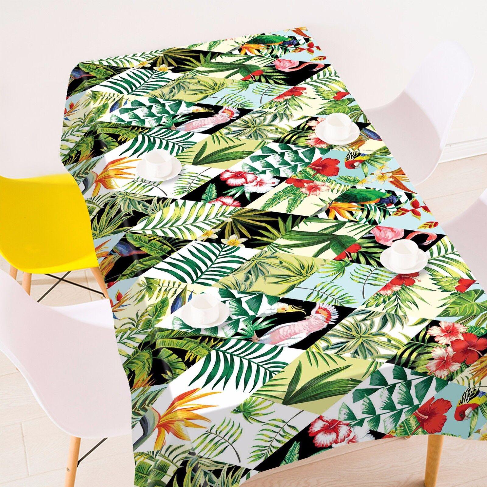3D feuilles 43 Nappe Table Cover Cloth fête d'anniversaire AJ papier peint Royaume-Uni Citron