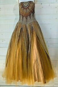 BELLEZZA By SAVOY Quinceanera Ball Gown Prom Dress in Bronze Size 10 158