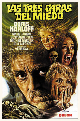 Boris Karloff Black Sabbath horror movie poster print 3