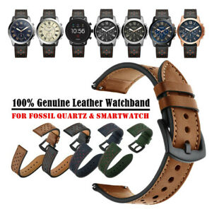 20mm-22mm-Premium-Genuine-Leather-Watch-Band-Strap-Bracelet-for-Fossil-Watch