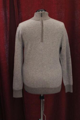 Cremieux 195 Blu Zip Mens Nwt Daniel Small maglione Nuovo Heather e lana cashmere wIx4qt