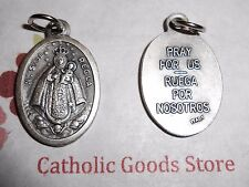 Our Lady of Regla /pray for US Spanish - Italian Silver Tone Ox 1 Inch Medal