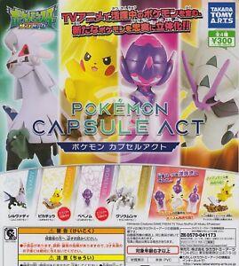 Takara Tomy Arts Pokemon anime All 6set Gashapon mascot toys Complete set