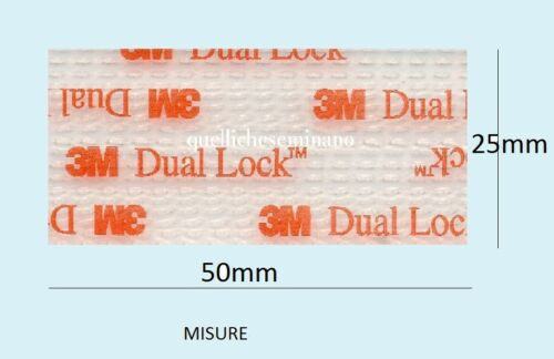 Dual lock SJ 3560 3M  adesivo 2 pezzi 25mmx50mm TELEPASS qualita/' professionale