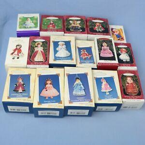 Hallmark-Lot-of-16-Madame-Alexander-Doll-Keepsake-Ornament-in-Original-Box