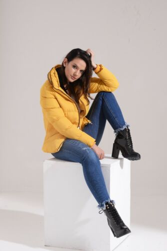 Dhalia Giacca 01w17 Fashion Mustard gialla Charcoal donna Puffa trapuntata 8T1P6xxn