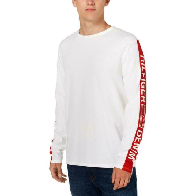 Tommy Hilfiger Mens T-Shirt White Size Small S Castile Tee Logo-Sleeve $39 #267