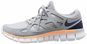 ⭐ Nike Free Run 2 Baskets UK 3 Chaussures Femme Filles Gym Chaussures De Course Gris School ext