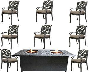 Cast-Aluminum-Patio-Furniture-9-Piece-Dining-Set-Elisabeth-Double-Burner-Table