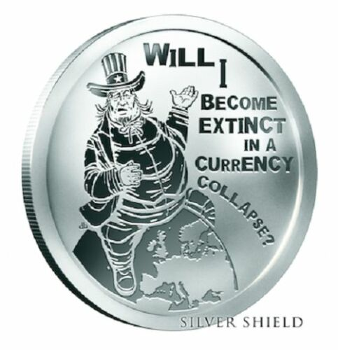 2016 1OZ Fat Sam Proof Oligarchy Silver Shield *IN-HAND* Only 625 Minted RARE