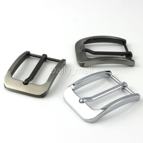 35mm Metal Belt Buckle Brushed Men/'s Single Pin Belt Half Buckle Heel bar Buckle