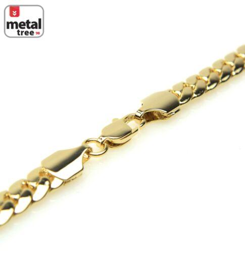 Men/'s 14K Gold Plated Mini Dog Tag Pendant Miami Cuban Chain Necklace BCH 1087