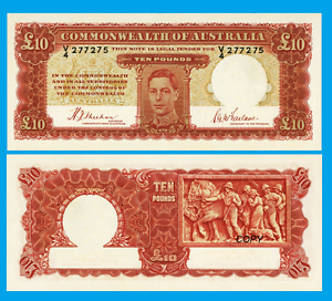 Australia 10 Pounds 1940 UNC Reproduction