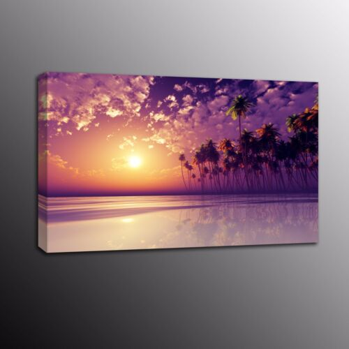 Beach Dusk Large Canvas Picture Print Poster Canvas Painting Wall Art Home Decor
