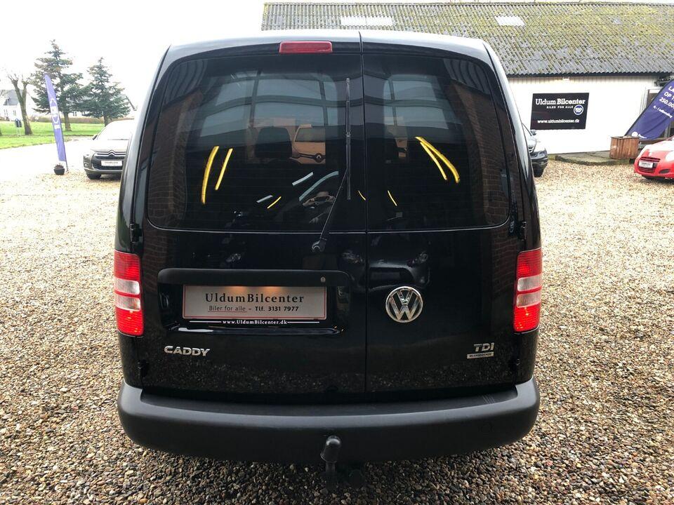 VW Caddy 1,6 TDi 102 BMT Van Diesel modelår 2012 Sortmetal km