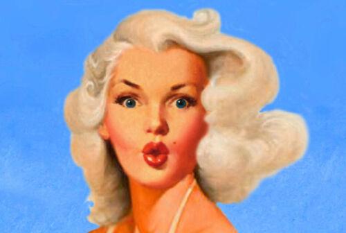 LAKE GEORGE New York Original Travel Poster Marilyn Monroe Pin Up Art Print 096