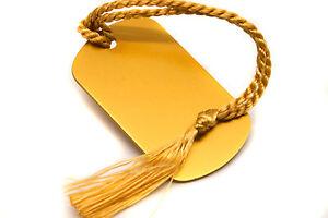 Personalised-Gold-Aluminium-Dog-Tag-Bookmark-Gift-Box-Choice-of-Tassel-Engraved